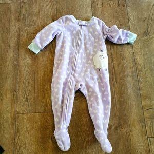 2/$15 Carter's Fleece sleeper 12 M